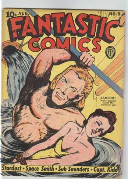 Fantastic Comics 9 - Water - Pipes - Yellow Dress - Star Dust - Space Smith