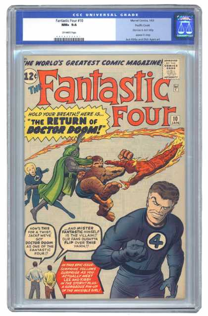 Fantastic Four 10 - Dr Doom - Jack Kirby - Stan Lee - The World Greatest Comic Magazine - The Return Of Doctor Doom - Dick Ayers, Jack Kirby