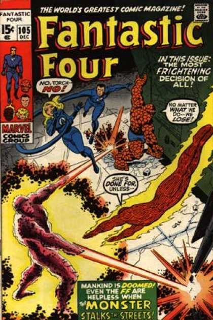 Fantastic Four 105 - Thing - Monster - Mr Fantastic
