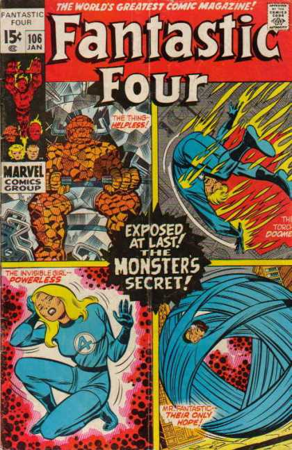 Fantastic Four 106 - Thing - Human Torch - Mr Fantastic - Joe Sinnott