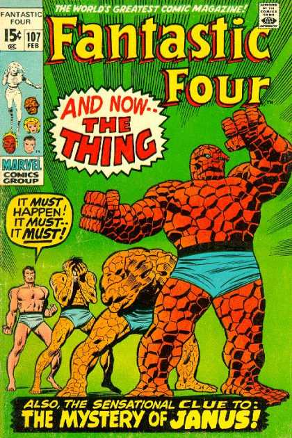 Fantastic Four 107 - Thing - Ben Grimm - Joe Sinnott, John Buscema