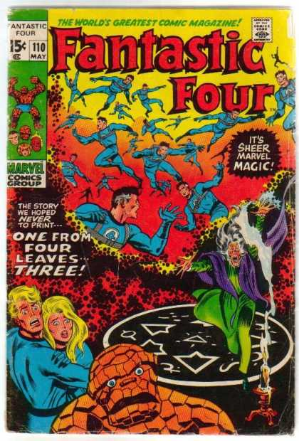 Fantastic Four 110 - Human Torch - Thing - Mr Fantastic - Invisible Girl - Magic - Joe Sinnott, John Buscema
