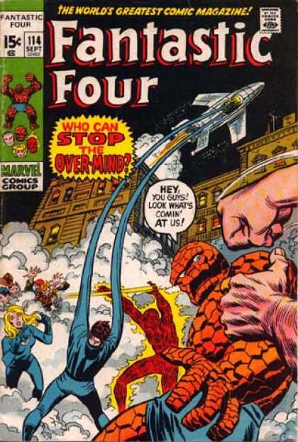 Fantastic Four 114 - Over-mind - Mr Fantastic - Human Torch - Rocket - Susan Storm - John Buscema