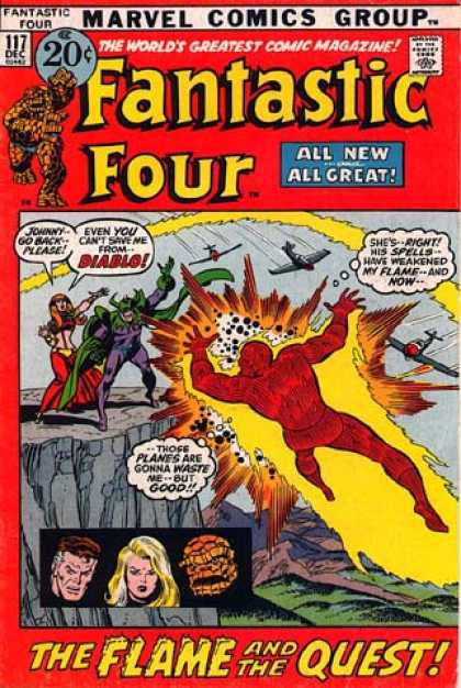 Fantastic Four 117 - Thing - Diablo - Mr Fantastic - Invisible Woman - Human Torch - Joe Sinnott, John Buscema