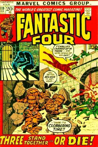 Fantastic Four 119 - Fire - Jail - Fantastic Four - Action - Thrill - Joe Sinnott, John Buscema