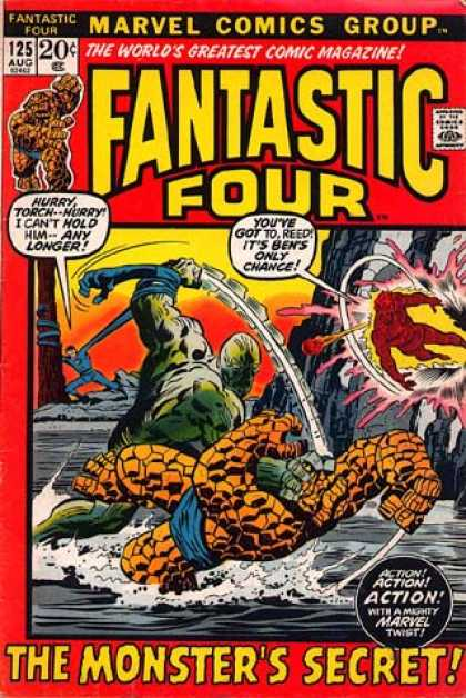 Fantastic Four 125 - Fighting - Joe Sinnott, John Buscema