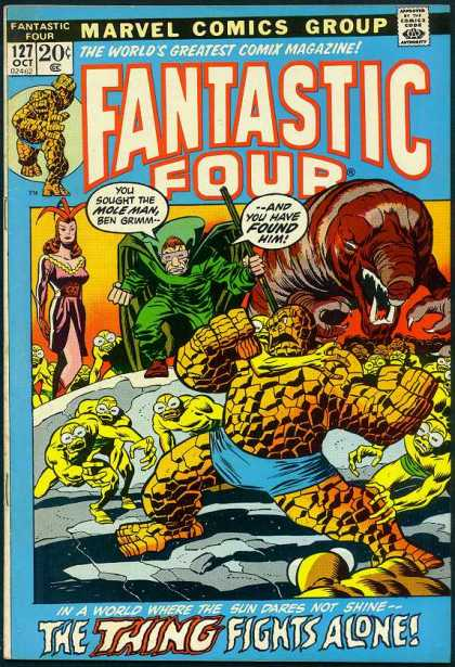 Fantastic Four 127 - Thing - Joe Sinnott, John Buscema