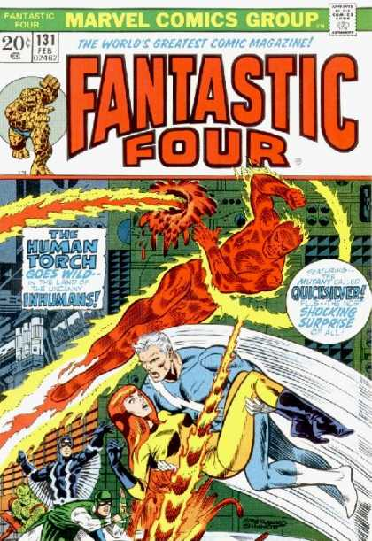 Fantastic Four 131 - Human Torch - Quicksilver - Inhumans - Thing - Crystal - Jim Steranko