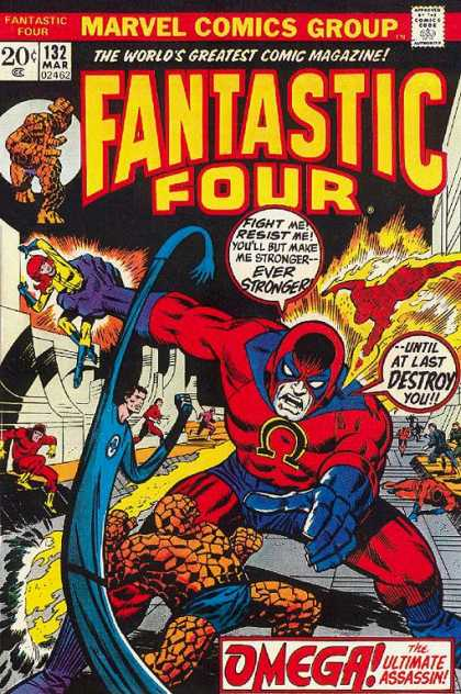 Fantastic Four 132 - Omega - Mr Fantastic - Thing - Marvel - Superhero