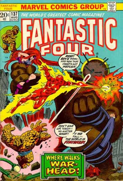 Fantastic Four 137 - Medusa - Thing - Human Torch - Mr Fantastic
