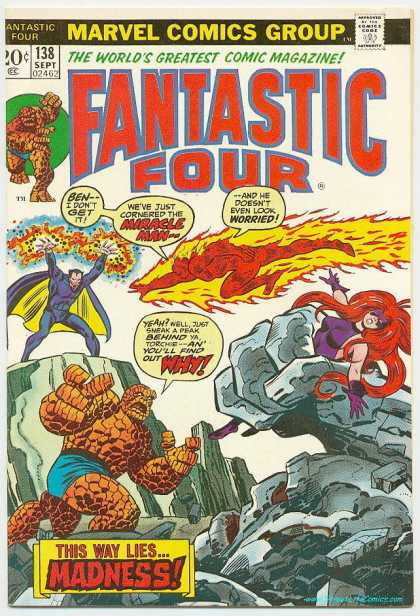 Fantastic Four 138 - Thing - Miracle Man - Mutants - Mystery Group - Morphers