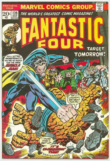 Fantastic Four 139 - Miracle Man - Its Clobberin Time - 139 Oct 02462 - Target - Tomorrow