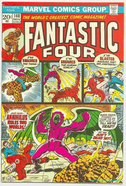 Fantastic Four 140 - Thing - Annihilus - Human Torch - Mr Fantastic