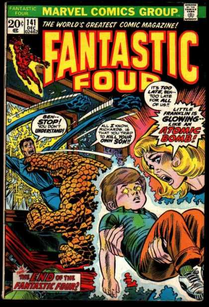 Fantastic Four 141 - Thing - Mr Fantastic - Franklin Richards - Marvel Comics - Approved By The Comics Code Authority