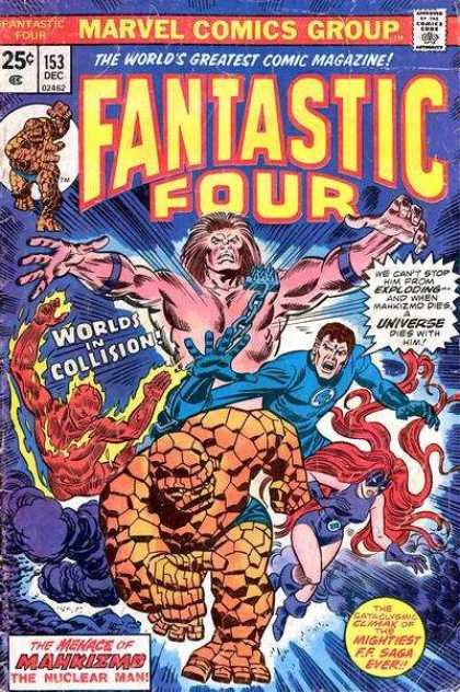 Fantastic Four 153 - Thing - Marvel Comics - Worlds In Collision - Medusa - The Nuclear Man