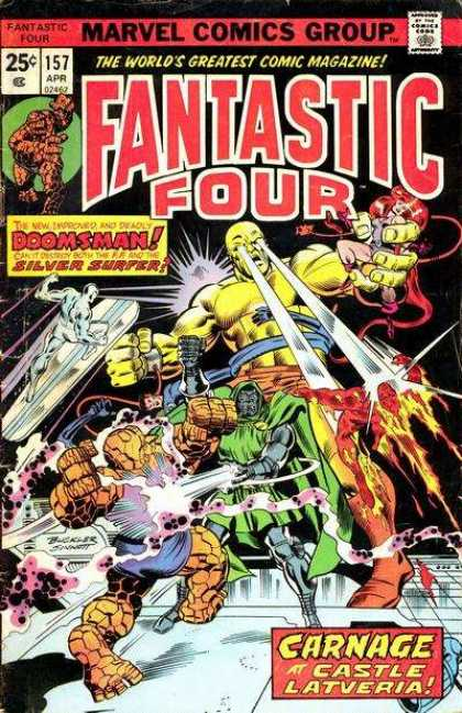 Fantastic Four 157 - Doomsman - Silver Surfer - Laser Eyes Comics - Marvel Comics Four Heroes - Castle Latveria - Richard Buckler