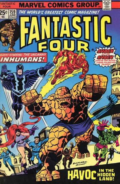Fantastic Four 159 - Inhumans - Flame - Havoc - Hidden Land - Shock - Richard Buckler