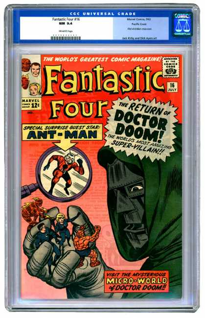 Fantastic Four 16 - Doctor Doom - Ant-man - Human Torch - Thing - Marvel - Jack Kirby