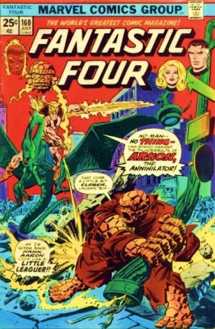 Fantastic Four 160 - Arkon - Thing - Marvel Comics Group - Fantastic Four - Arkon The Annihilator
