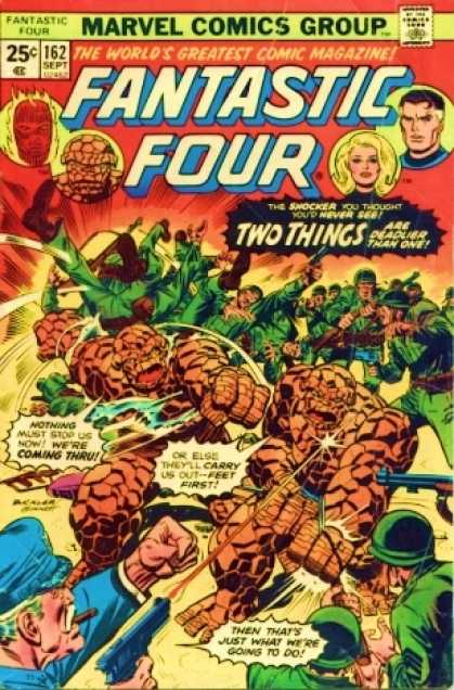 Fantastic Four 162 - Army Captain - Army Guys - Upside Down Army Guys - Twin - Cigar - Richard Buckler