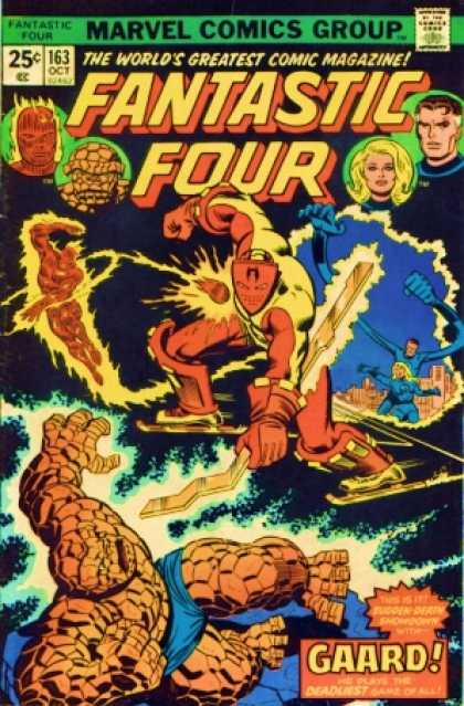 Fantastic Four 163 - Super Powers - Super Heros - Galaxy Wars - Powerful Fighters - Another Universe