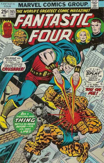 Fantastic Four 165 - City - Rays - Hands - Monster - Cape
