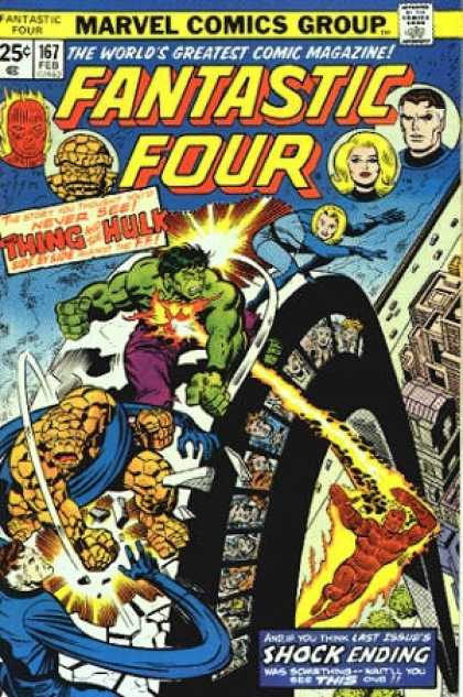 Fantastic Four 167 - Hulk - Marvel Comics - Silver Age - Superheros - Teams