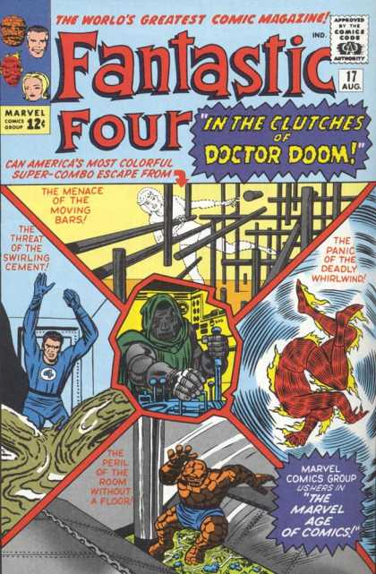 Fantastic Four 17 - Dr Doom - Human Torch - Thing - Clutches - Doom - Jack Kirby