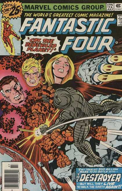 Fantastic Four 172 - Three Heads - Flying - Space Ships - The Thing - Outer Space - Jack Kirby, Joe Sinnott