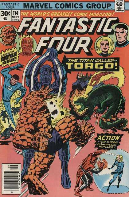 Fantastic Four 174 - Torgo - Marvel Comics - Fantastic Four - 30 Cents - Battle Issue