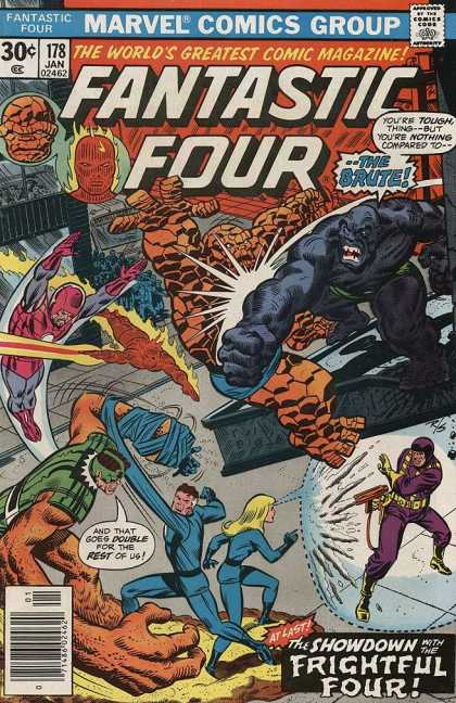Fantastic Four 178 - Marvel - The Thing - The Brute - Fightful Four - 178