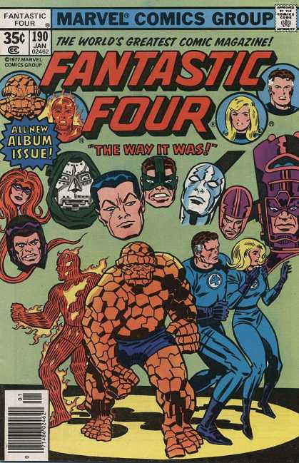 Fantastic Four 190 - The Way It Was - Superheroes - Floating Heads - Villians - Trapped - Jack Kirby