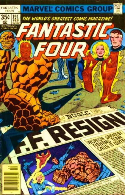 Fantastic Four 191 - Thing - Newspaper - Feet - George Perez