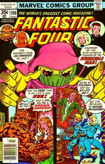 Fantastic Four 196 - Invincible Man - Invisible Woman - Thing - Monster - Human Torch - George Perez