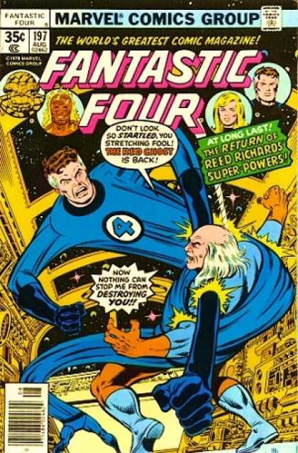 Fantastic Four 197 - Mr Elastic - Fantastic Four - Space Station - Ghost - Superpower - George Perez