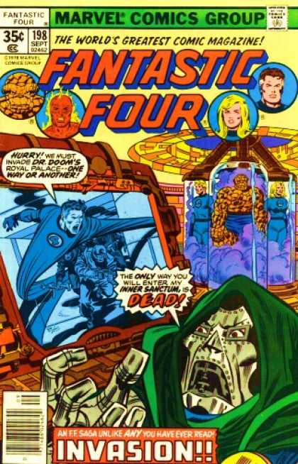 Fantastic Four 198 - Thing - Mr Fantastic - Iron Face - Mad Iron Face - Dead