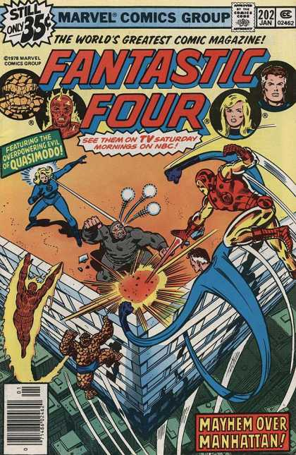 Fantastic Four 202 - Quasimodo - Stretch - Marvel - Overpowering Evil - Superheros - Joe Sinnott, John Buscema