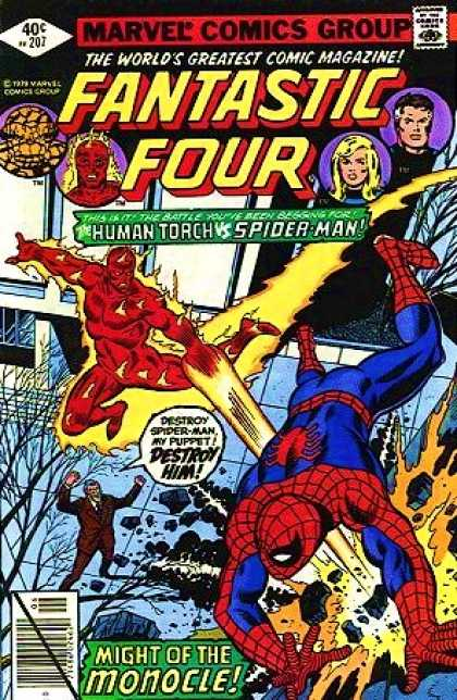 Fantastic Four 207 - Spider-man - Human Torch