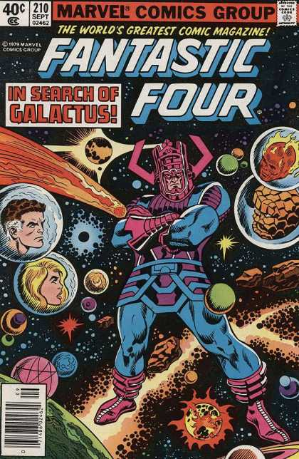 Fantastic Four 210 - Galactus - Meteors - Outer Space - Planets - In Search Of Galactus