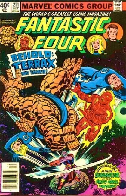 Fantastic Four 211 - Space - Terrax - Joe Sinnott, John Byrne