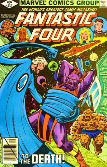 Fantastic Four 213 - The Thing - Blaze - Invisible - Planets - Stretch - Joe Sinnott, John Byrne