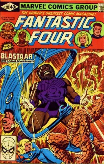 Fantastic Four 215 - Blastaar - Thing - Human Torch - Reed Richards - Josef Rubinstein