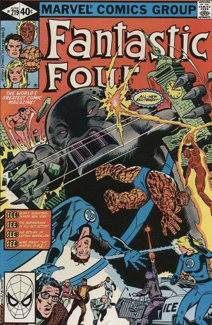 Fantastic Four 219 - Marvel Comics Group - The Worlds Greatest Comic Magazine - Approved By The Comics Code - June 219 - See - Bill Sienkiewicz, Joe Sinnott