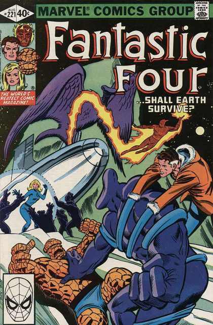 Fantastic Four 221 - Marvel Comics Group - Comics Code - Man Torch - Greatest Comics Magazine - Shall Earth Survive - Bill Sienkiewicz, Joe Sinnott