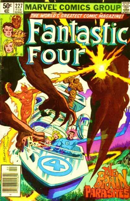 Fantastic Four 227 - Brain Parasites - Sandman - Power - Magic - Fight - Bill Sienkiewicz, Joe Sinnott
