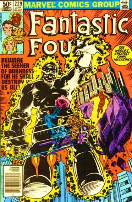 Fantastic Four 229 - Human Torch - Thing - Seeker - Mr Fantastic - Invisible Woman - Bill Sienkiewicz, Joe Sinnott
