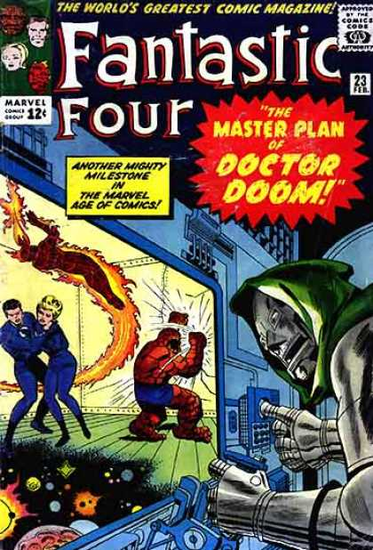 Fantastic Four 23 - Human Torch - Doctor Doom - Mr Fantastic - The Thing - Master Plan - Jack Kirby