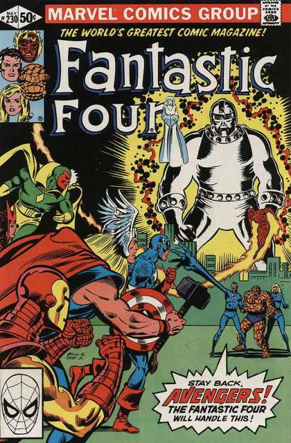 Fantastic Four 230 - Avengers - Scarlet Witch - The Thing - Thor - Captain America - Bill Sienkiewicz