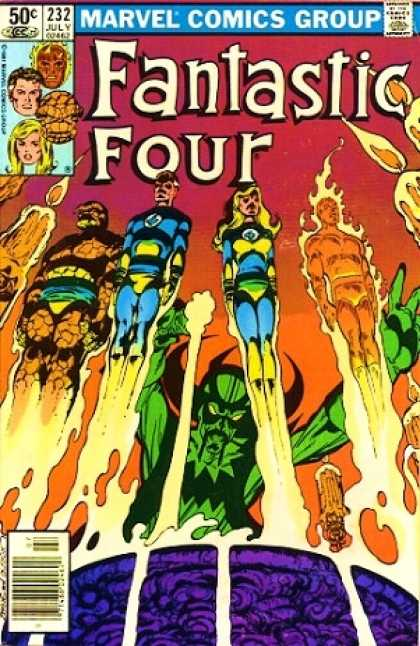 Fantastic Four 232 - Invisible Girl - Mr Fantastic - The Thing - Human Torch - Flames - John Byrne