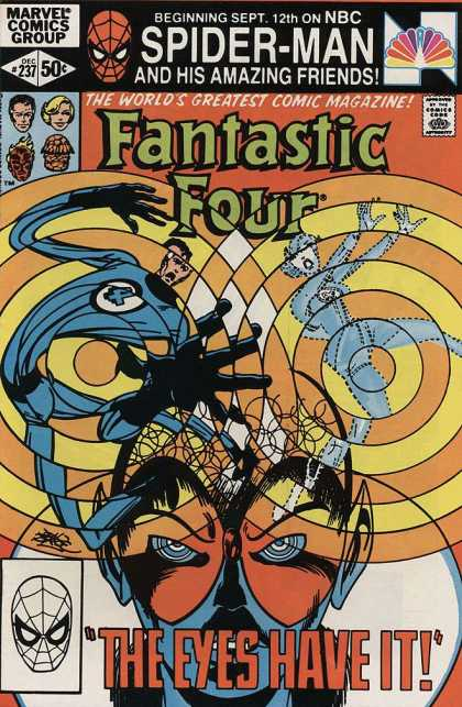 Fantastic Four 237 - The Invisible Girl - Hypnosis - The Eyes Have It - Spider Man - Elastic Man - John Byrne